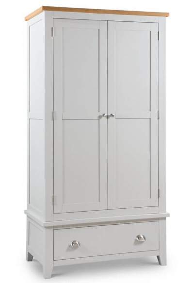 Richmond Soft Grey 2 Door Combination Wardrobe